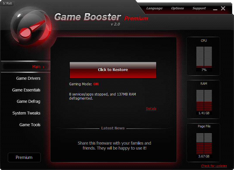 Download Gratis iObit Game Booster Premium Full Version