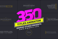 Download Gratis 350 Titles Animation Pack - (Videohive)