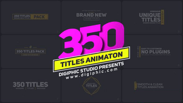 Download Gratis 350 Titles Animation Pack (Videohive)