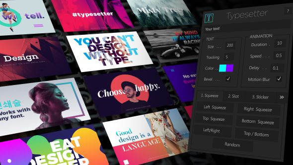 Download Gratis Typesetter Free After Effects Template (Videohive)