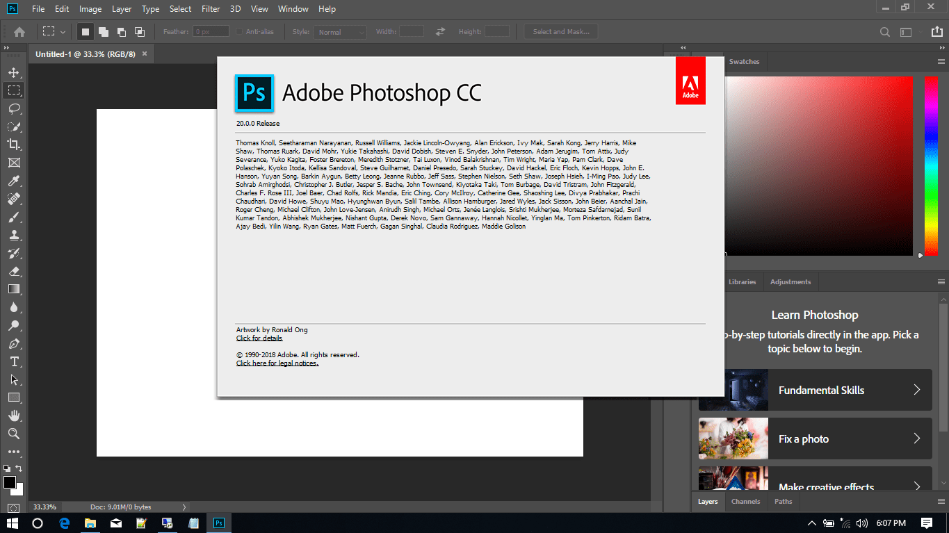 Adobe Photoshop CC 2019 Full Version
