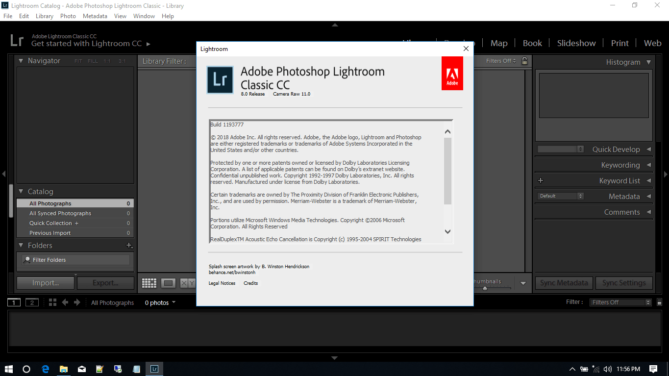 adobe photoshop lightroom classic cc 8.0.0
