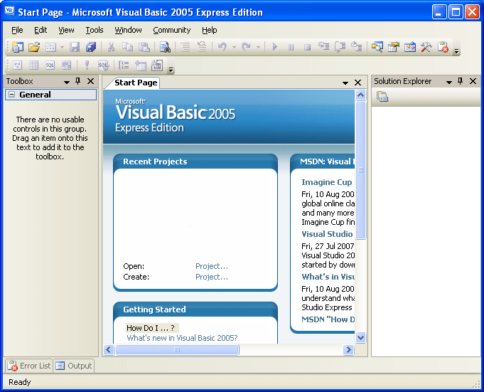 Download Gratis Microsoft Visual Basic 2005 Express Edition